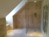 Travertine wetroom